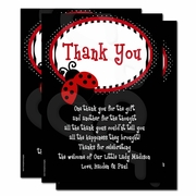 Ladybug Baby Shower Personalized Thank you cards