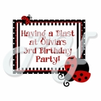 Ladybug Personalized Party Favor