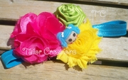 Lalaloopsy Satin Chiffon Flower Ribbon Rose Headband