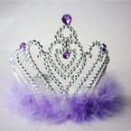 Lavender Heart Princess Tiara