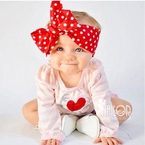Red Polka dot headwrap