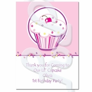 Lil Cupcake Personalized Thank you Cards