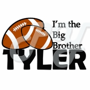 Little/Big Brother Football personalized t shirt