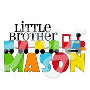 Little/Big Brother Train personalized t shirt