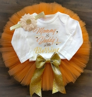 Little Blessing Personalized Thanksgiving tutu