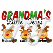 """Little """"Dears"""" personalized Christmas t-shirt Gown"""