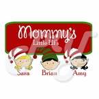 Little Elf's Personalized Christmas t shirt