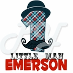 Little Man Mustache Personalized Birthday t shirt
