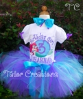 Little Mermaid Ariel personalized birthday Tutu set