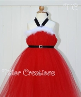 Little Mrs Claus personalized Christmas Tutu Dress