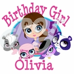 Littlest Pet Shop Personalized Birthday t shirt