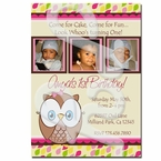 Look Whoo's 1 personalized invitations