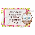 Look Whoo's 1 personalized party favor