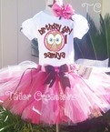 Look Whoo's Owl personalized tutu birthday set