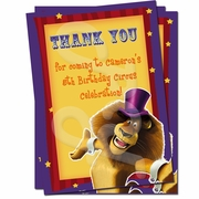 Madagascar Personalized Thank you cards
