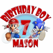 Mario & Sonic Personalized Birthday t shirt