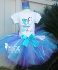 Mermaids Under the Sea Personalized glitter Birthday tutu set
