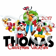 Mickey and Friends personalized Christmas shirt