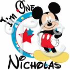 Mickey Mouse 1st birthday personalized t shirt