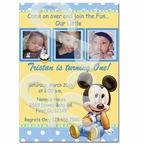 Mickey Mouse 1st personalized invitations