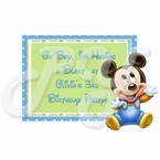 Mickey Mouse 1st personalized party favor