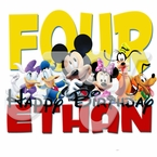 Mickey Mouse and friends personalized birthday t shirt