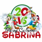Mickey Mouse and Friends Personalized Christmas t shirt
