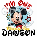 Mickey Mouse on the Go Personalized Birthday t shirt