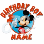 Mickey Mouse Clubhouse personalized birthday t shirt