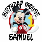Mickey Mouse Personalized Birthday t shirt