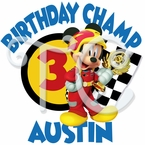 Mickey Mouse Roadster Racers personalized birthday t-shirt