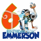 Miles from Tomorrowland personalized birthday t shirt
