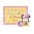 Minnie Mouse 1st birthday personalized party favor