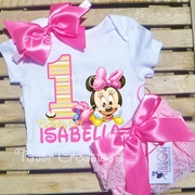 Minnie Mouse 1st Birthday Personalized Petti Lace Set