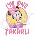 Minnie Mouse 1st Birthday Personalized t-shirt
