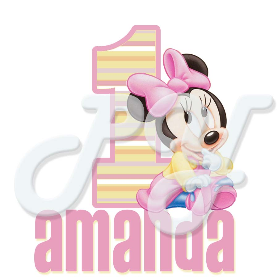 Design your own t-shirt decals - Minnie Mouse 1st Birthday Personalized T Shirt