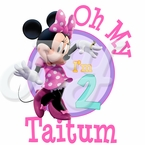 Minnie Mouse Dream party personalized birthday t shirt