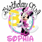 Minnie Mouse personalized birthday t shirt