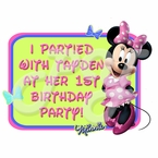 Minnie Mouse Personalized Party Favor