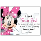Minnie Mouse Personalized Thank You Cards