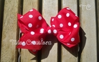 Minnie Mouse Pink or Red Polka dot hair clip