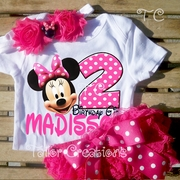 Minnie Mouse Pink Personalized Petti Lace Bloomers/Shorts