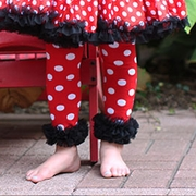 Minnie Mouse Red and Black Polka Dot Leg Warmers