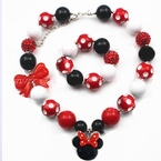 Minnie Mouse Red Bubblegum Chunky Necklace