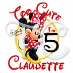 Minnie Mouse Red Personalized Birthday t-shirt