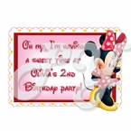 Minnie Mouse Red personalized party favor