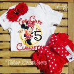 Minnie Mouse Red Personalized Petti Lace Bloomers/Shorts