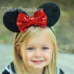 Minnie Mouse Sequin Headband