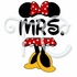 Minnie Mouse Wording Personalized T shirt