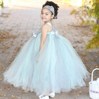 Mint Green and Gray Couture Tutu Dress